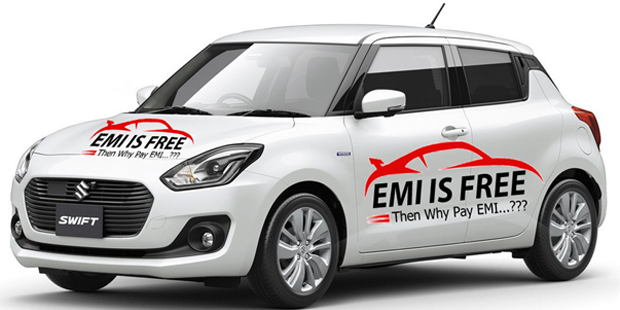 EMI is Free in Ahmedabad - Private Car Advertising Company - Advertising on Car