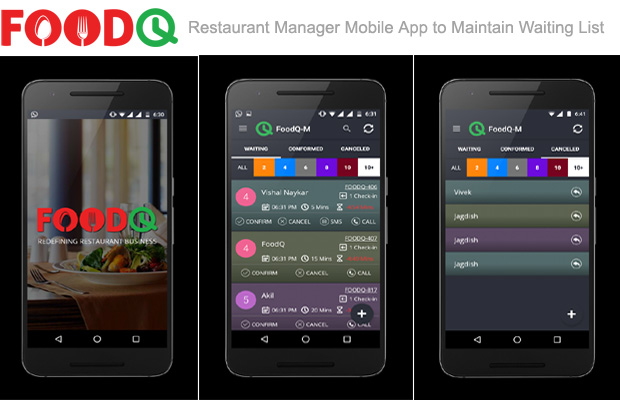 Restaurant Manager Mobile App to maintain waiting list - FoodQ